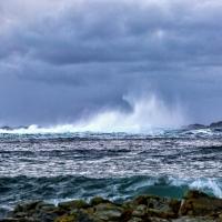Blowing waves